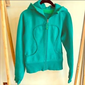 Lululemon Green Distressed Scuba Hoodie Size 6